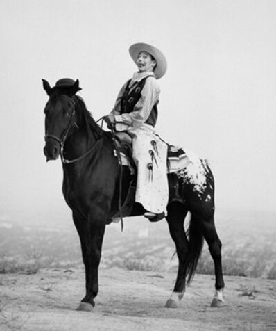 Herb Ritts, 'Pee Wee Herman on Horse, Los Angeles', 1987