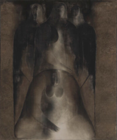 Ricardo Martinez, 'Mujer con tres figuras ', 1965