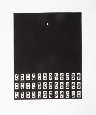 Patrick Hughes, 'Black Stars', 1980