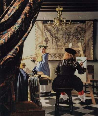 Yasumasa Morimura, 'Vermeer Study: A Great Story out of a Small Room', 2004