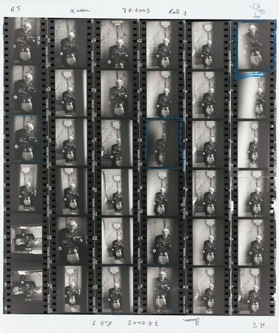 Alison Jackson, 'Queen on the Loo Contact Sheet', 2003