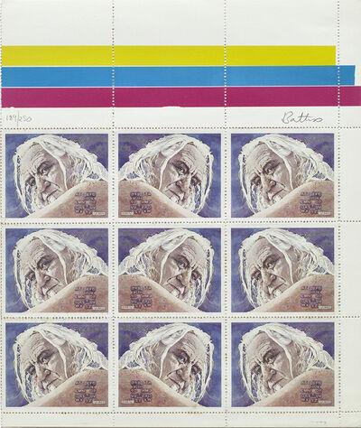 Walter Battiss, 'Fook Island Stamp Issue: Self Portrait - Alphabet'