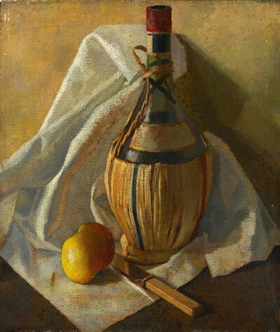 Percy Horton, 'Chianti bottle with lemon', ca. 1922