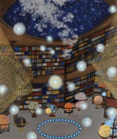 "Michiko Itatani, '""Starry Night"" painting from Cosmic Encounter 15-D-9', 2015"