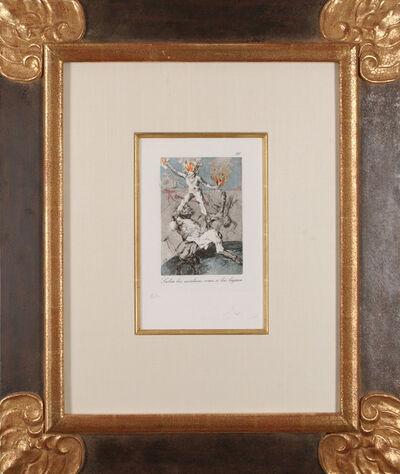 Salvador Dalí, 'Les Caprices de Goya: Subía las escaleras como si las bajara', 1977