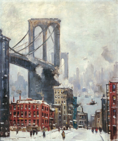 Guy Carleton Wiggins, 'Brooklyn Bridge, Winter', ca. 1920-1930