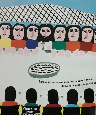 Amos Ferguson, 'This Is the Lord Supper. Take This in Remembrance of His Death for the Hole World', 1983