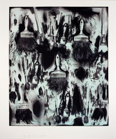 Jim Dine, 'Cobalt Teal Paint Brushes', 2010