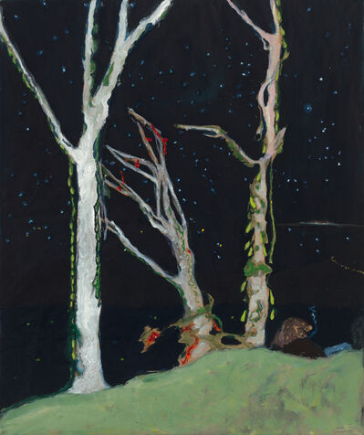 "Peter Doig, '""Figures at Night""', 2017"