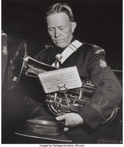 Weegee, 'Los Angeles Salvation Army French Horn Player', 1940s