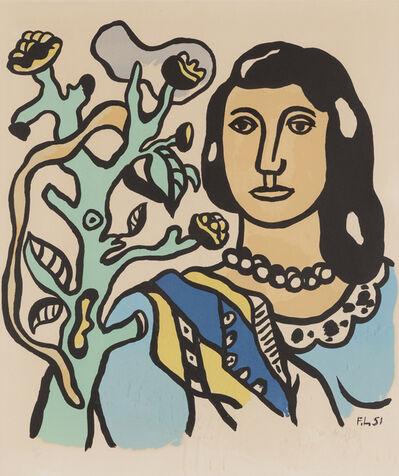 Fernand Léger, 'La femme et la fleur', 1954