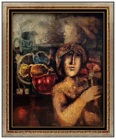Alvar Sunol, 'Sunol ALVAR Original OIL PAINTING ON CANVAS Signed Cubism Portrait Artwork LARGE', 20th Century