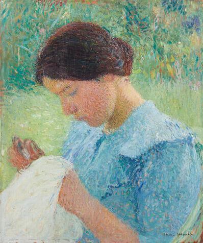 Albert Dubois-Pillet, 'Jeune femme cousant', 1860-1943