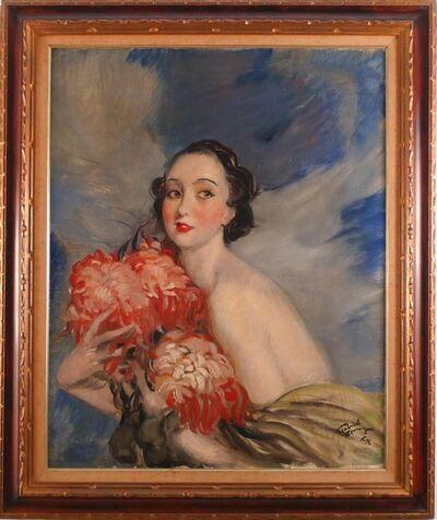 Jean Gabriel Domergue, 'Jeune Femme aux Fleurs', 1928