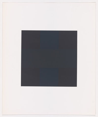 Ad Reinhardt, 'Untitled from X + X (Ten Works by Ten Painters)', 1965
