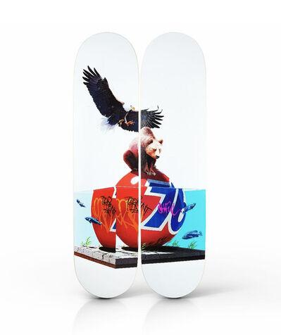 Josh Keyes, ''Lifted' Diptych Skateboard Deck Set', 2017