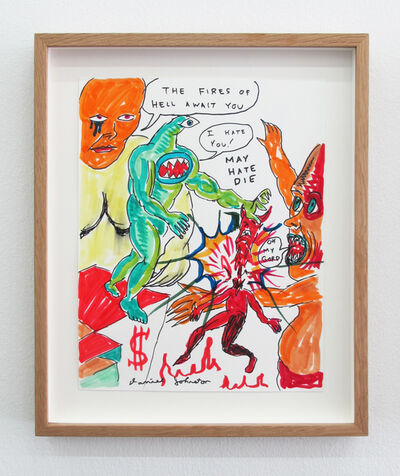 Daniel Johnston, 'The Fires Of Hell Await You ', 2009