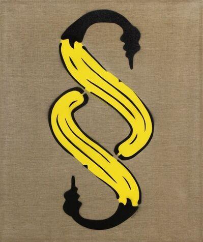 Bananensprayer Thomas Baumgärtel, 'Paragraphenbanane', 1998