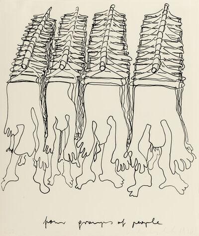 Kiki Kogelnik, 'Four Groups of People', 1970