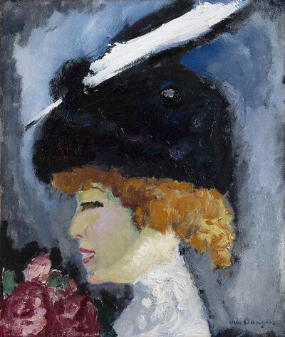 Kees van Dongen, 'Portrait de femme à la plume blanche', ca. 1908