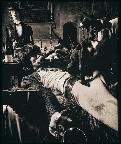 Michael Joseph, 'Mick Jagger and Keith Richards, 1968 - Keith & Pug with Mick at Sarum Chase, Beggars Banquet', 1968