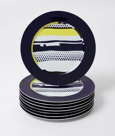 Roy Lichtenstein, 'Eight abstract service plates', 1990