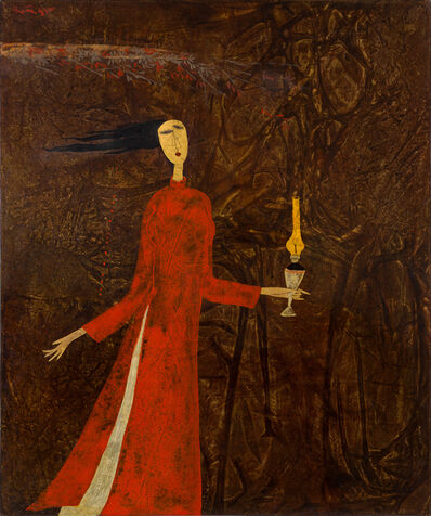 Dinh Quan, 'Lady with Candle Lamp', 1995