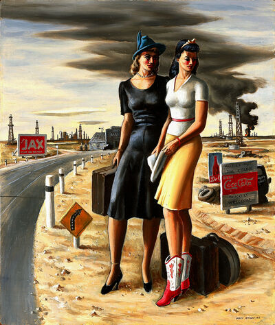 Jerry Bywaters, 'Oil Field Girls', 1940