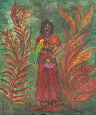 Pascale Monnin, 'La femme au perroquet', 2016