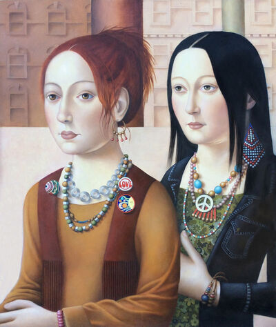 Amy Hill, 'Two Women with Jewelry', 2018
