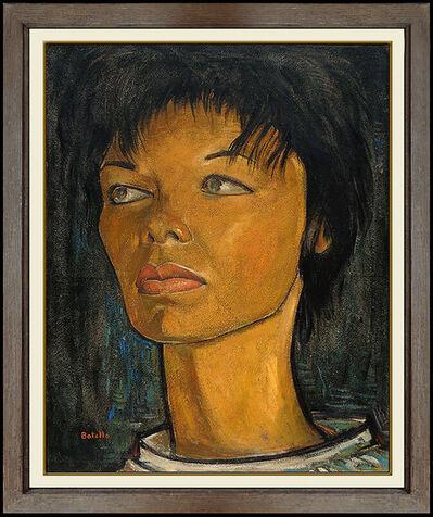 Angel Botello, 'Angel Botello Original Oil Painting On Board Signed Female Portrait Modern Art', 20th Century