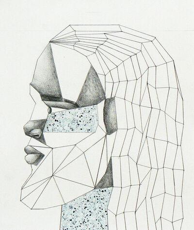Derrick Adams, 'Head (floor plan) study, figure plate', 2011-2012