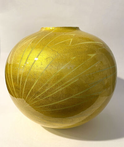 Ono Hakuko, 'Yellow Globular Vessel', N/A