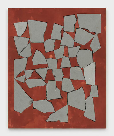 Sam Moyer, 'Red Wall', 2019