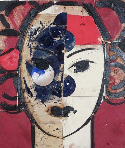 Manolo Valdés, 'Retrato en Blanco y Rojo', 2020