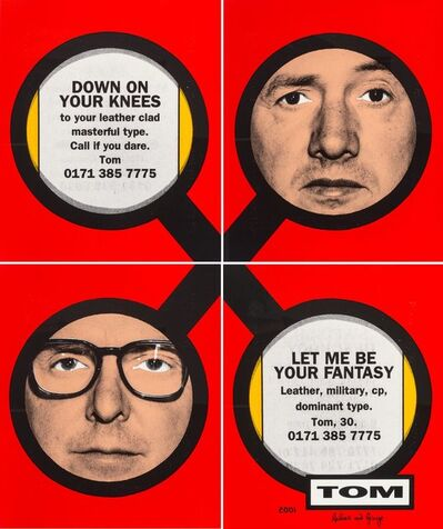 Gilbert and George, 'Tom (in four parts)', 2001