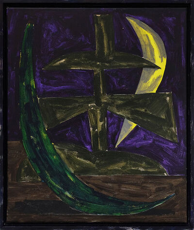 Jordy van den Nieuwendijk, 'Figure With Two Moons', 2016