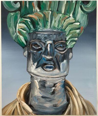 Kajahl, 'Expression Hybrid Portrait V (Silver face, green hair)', 2016