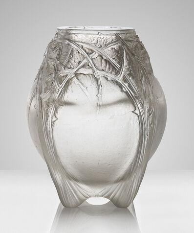René Lalique, ''Épines formant quatre pieds', a rare cire perdue vase, no. CP 377', designed 1921