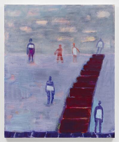 Katherine Bradford, 'Vertical Gray Swimmers', 2020
