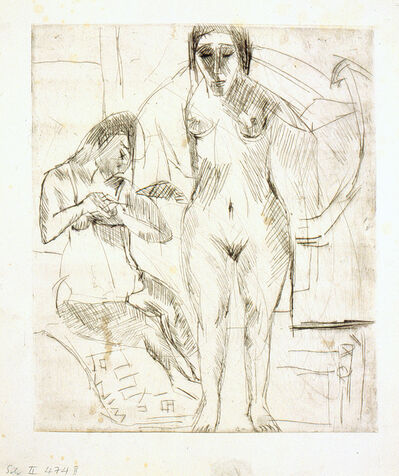 Ernst Ludwig Kirchner, 'Zwei Badende (Two bathing Woman)', 1924