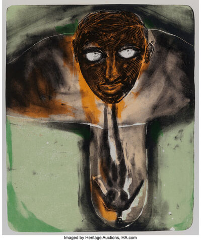 Francesco Clemente, 'Self Portrait in Red and Green', c. 1980