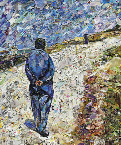 Vik Muniz, 'Father Magloire on the Road between Saint-Clair and Etretat, after Gustave Caillebotte', 2013