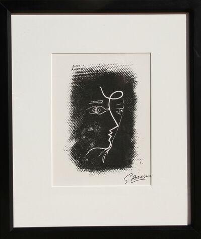 Georges Braque, 'Profil de Femme from Souvenirs de Portraits d'Artistes', 1972