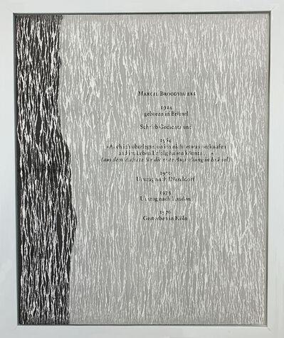 Buzz Spector, 'Marcel Broodthaers', 1997