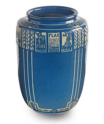 """Margaret Cable, 'Exceptional and rare """"North Dakota Products"""" vase, Grand Forks, ND', ca. 1930"""