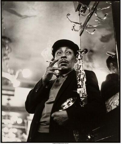 Herman Leonard, 'Johnny Hodges, Brasserie Lipp, Paris', 1958