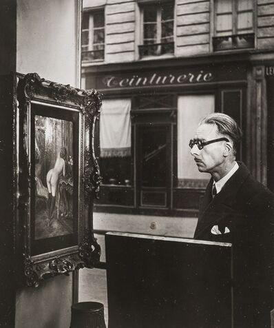 Robert Doisneau, 'Man Looking at Painting of a Nude in Paris Shop Window', 1948