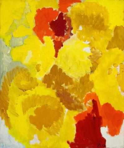 Ernst Wilhelm Nay, 'Mit vielfältigem Gelb', 1958