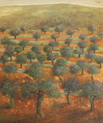 Sliman Mansour, 'Olive Grove', 2015
